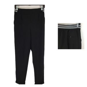 Dynamite Black and Silver Athleisure Waistband Trouser Size XS